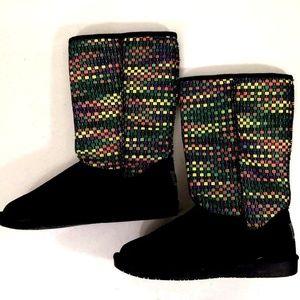 b89153e0c095 Skechers Australia Black Suede Mid Calf Boots